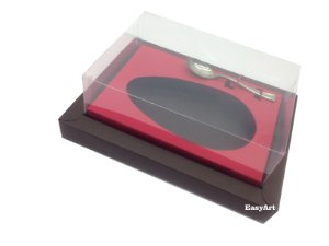 Caixa para Ovos de Colher 500g Marrom / Vermelho