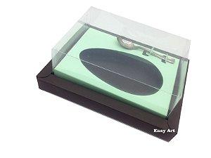 Caixa para Ovos de Colher 500g Marrom / Verde Claro