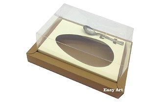 Caixa para Ovos de Colher 500g Marrom Claro / Marfim