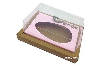 Caixa para Ovos de Colher 500g Marrom Claro / Rosa Claro