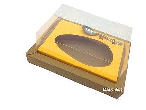 Caixa para Ovos de Colher 500g Marrom Claro / Laranja Claro