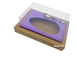 Caixa para Ovos de Colher 500g Marrom Claro / Lilás