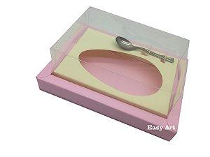 Caixa para Ovos de Colher 500g Rosa Claro / Marfim