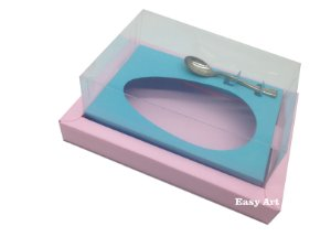 Caixa para Ovos de Colher 500g Rosa Claro / Azul Tiffany