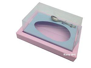 Caixa para Ovos de Colher 500g Rosa Claro / Azul Claro