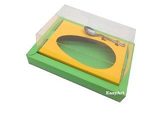 Caixa para Ovos de Colher 500g Verde Pistache / Laranja Claro