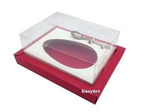 Caixa para Ovos de Colher 500g Vermelho / Branco