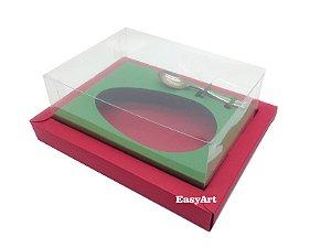Caixa para Ovos de Colher 500g Vermelho / Verde Bandeira