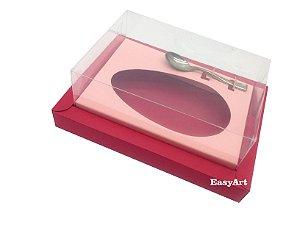 Caixa para Ovos de Colher 500g Vermelho / Salmão