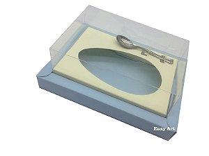 Caixa para Ovos de Colher 350g - Azul Claro / Marfim