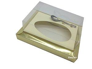 Caixa para Ovos de Colher 350g Dourado / Marfim