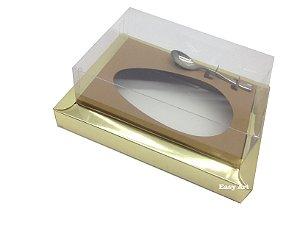 Caixa para Ovos de Colher 350g Dourado / Marrom Claro