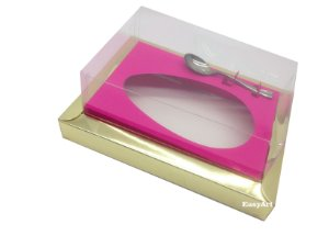 Caixa para Ovos de Colher 350g Dourado / Pink