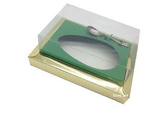 Caixa para Ovos de Colher 350g Dourado / Verde Bandeira