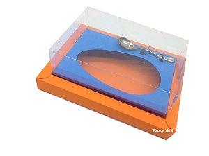 Caixa para Ovos de Colher 350g Laranja / Azul Turquesa