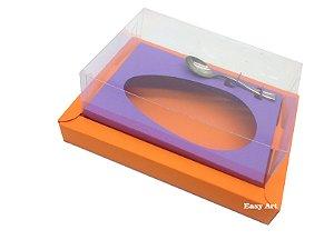 Caixa para Ovos de Colher 350g Laranja / Lilás