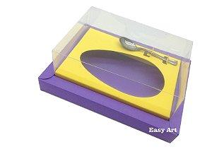 Caixa para Ovos de Colher 350g Lilás / Amarelo