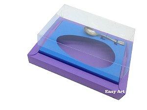 Caixa para Ovos de Colher 350g Lilás / Azul Turquesa
