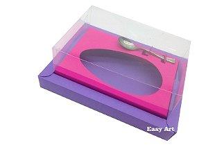 Caixa para Ovos de Colher 350g Lilás / Pink