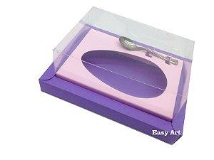 Caixa para Ovos de Colher 350g Lilás / Rosa Claro