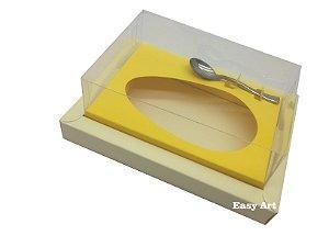 Caixa para Ovos de Colher 350g Marfim / Amarelo