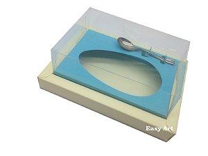 Caixa para Ovos de Colher 350g Marfim / Azul Tiffany
