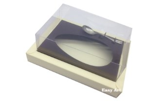 Caixa para Ovos de Colher 350g Marfim / Marrom