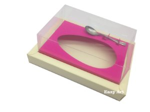 Caixa para Ovos de Colher 350g Marfim / Pink
