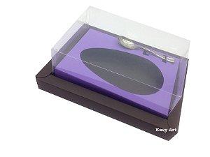 Caixa para Ovos de Colher 350g Marrom / Lilás