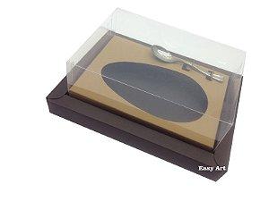 Caixa para Ovos de Colher 350g Marrom / Marrom Claro