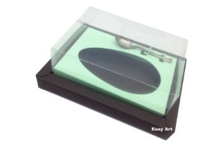 Caixa para Ovos de Colher 350g Marrom / Verde Claro