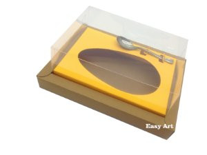Caixa para Ovos de Colher 350g Marrom Claro / Laranja Claro