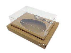 Caixa para Ovos de Colher 350g Marrom Claro - Linha Colors