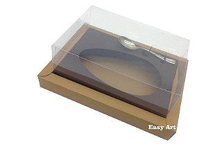 Caixa para Ovos de Colher 350g Marrom Claro / Marrom