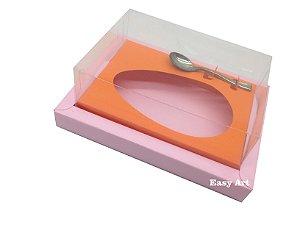 Caixa para Ovos de Colher 350g Rosa Claro / Laranja