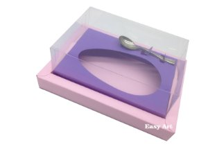 Caixa para Ovos de Colher 350g Rosa Claro / Lilás