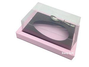 Caixa para Ovos de Colher 350g Rosa Claro / Marrom