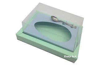 Caixa para Ovos de Colher 350g Verde Claro / Azul Claro
