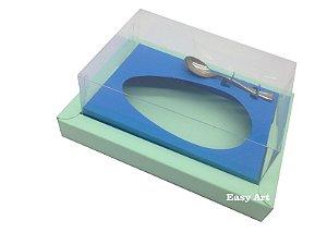 Caixa para Ovos de Colher 350g Verde Claro / Azul Turquesa
