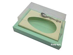 Caixa para Ovos de Colher 350g Verde Claro / Marfim