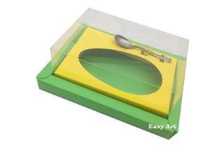 Caixa para Ovos de Colher 350g Verde Pistache / Amarelo
