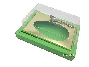 Caixa para Ovos de Colher 350g Verde Pistache / Dourado