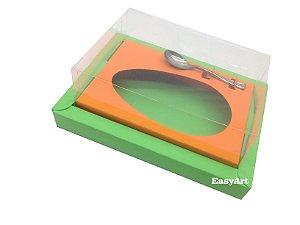 Caixa para Ovos de Colher 350g Verde Pistache / Laranja