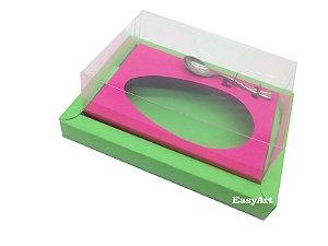 Caixa para Ovos de Colher 350g Verde Pistache / Pink