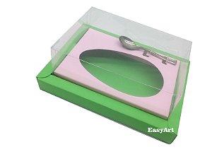 Caixa para Ovos de Colher 350g Verde Pistache / Rosa Claro