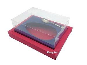 Caixa para Ovos de Colher 350g Vermelho / Azul Marinho