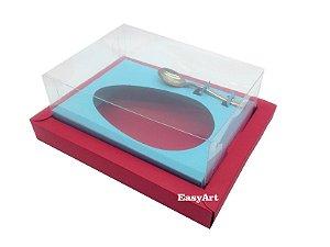 Caixa para Ovos de Colher 350g Vermelho / Azul Tiffany