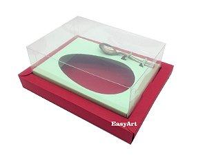 Caixa para Ovos de Colher 350g Vermelho / Verde Claro