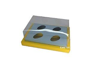 Caixa para Ovos de Colher 4X 50g / Amarelo - Azul Claro
