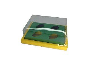 Caixa para Ovos de Colher 4X 50g / Amarelo - Verde Bandeira